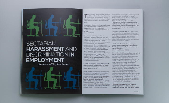 Social Justice Review - Sectarian Harassment - Print 01
