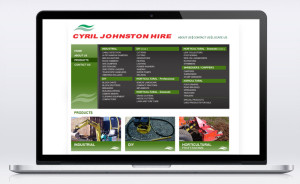 Cyril Johnston CJ Hire Website Laptop 01