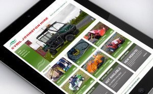 Cyril Johnston CJ Hire Website Tablet 01