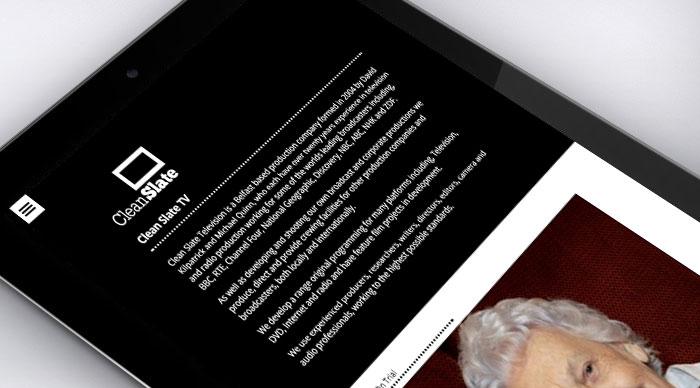 Clean Slate TV Responsive Website Design - Tablet